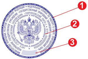 Гербовая печать ГОСТ Р 51511-2001