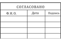 Штампы согласования